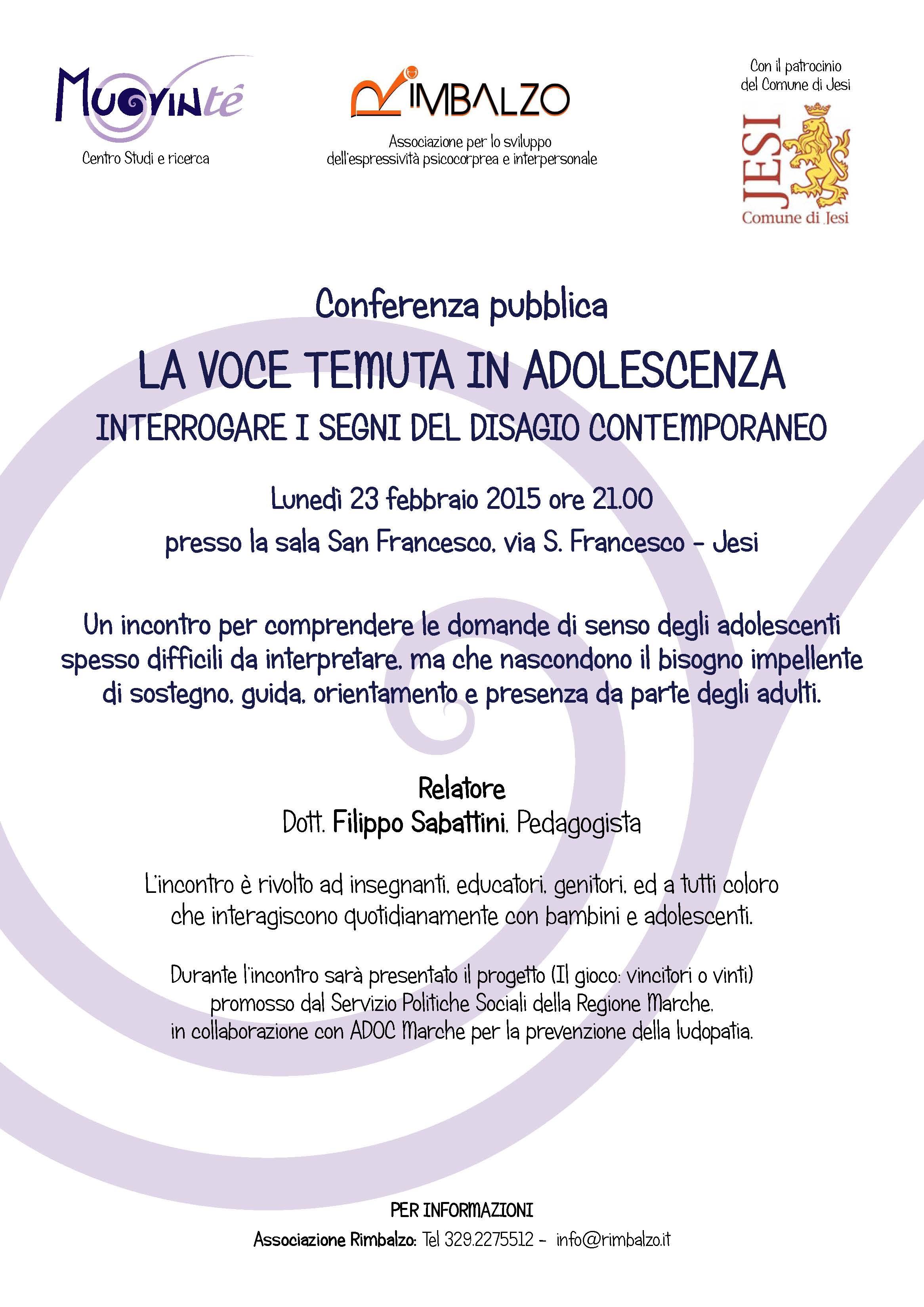 Locandina Conferenza JESI